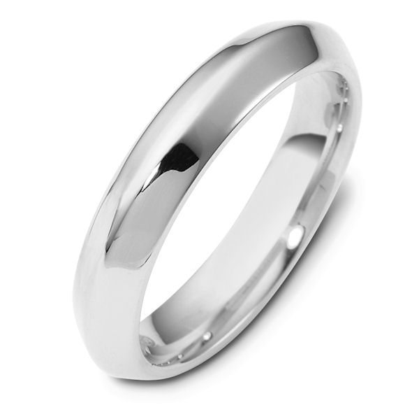 Item # 118461PP - Platinum contemporary, comfort fit, 4.0mm wide wedding band. The whole ring has a polished finish. Different finishes may be selected or specified.