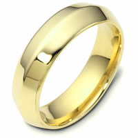 Item # 118471E - Modern Yellow Gold Wedding Band