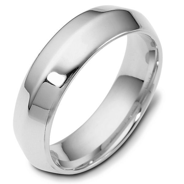 Item # 118471PD - Palladium modern contemporary, comfort fit, 6.0mm wide wedding band. The ring has a polished finish. Different finishes may be selected or specified.