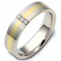 Item # 118551E - 18K Gold Diamond Wedding Band