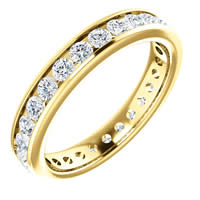 Item # 118581E - 18K Gold Diamond Eternity Ring