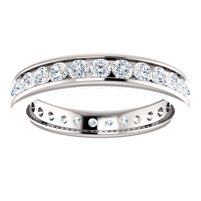 Item # 118581WE View 3 - 18K Gold Diamond Eternity Band