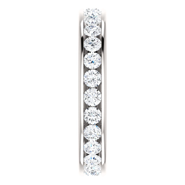 Item # 118581WE View 4 - 18K Gold Diamond Eternity Band