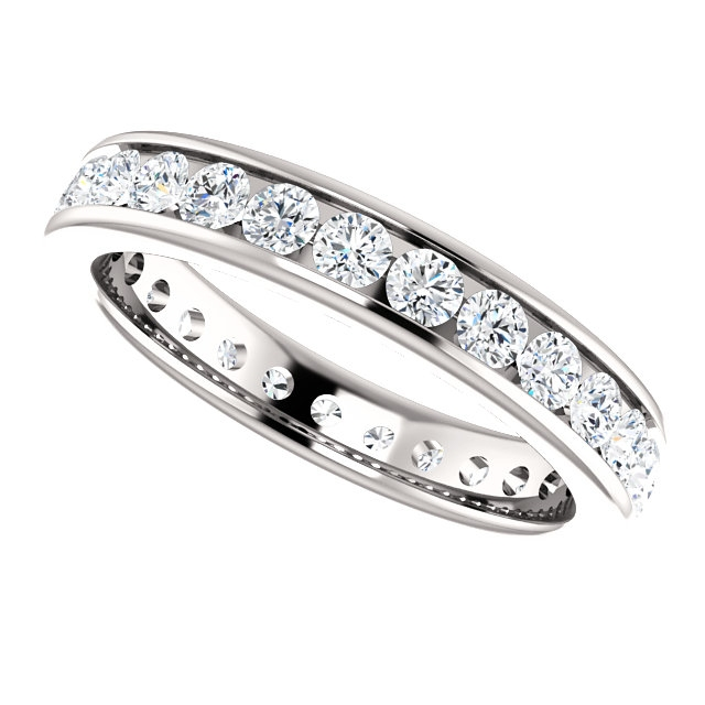 Item # 118581WE View 5 - 18K Gold Diamond Eternity Band