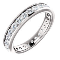Item # 118581W - 14K Gold Diamond Eternity Band