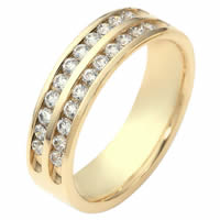 Item # 118611E - 18K Gold Diamond Anniversary Band