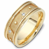 Item # 119011E - 18K Gold Diamond Wedding Band
