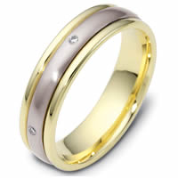 Item # 119771PE - Platinum-18K Spinning Diamond Wedding Ring