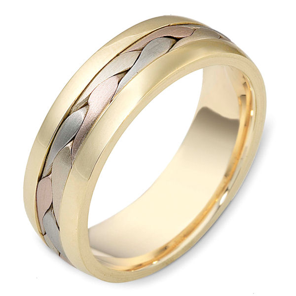 14 K Braided Handcrafted Wedding Band