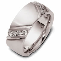 Item # 120251WE - 18K Gold Diamond Wedding Ring