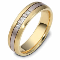 Platinum-18K Gold Diamond Wedding Ring