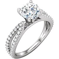 Item # 127634WE - 18K White Gold Engagement Ring