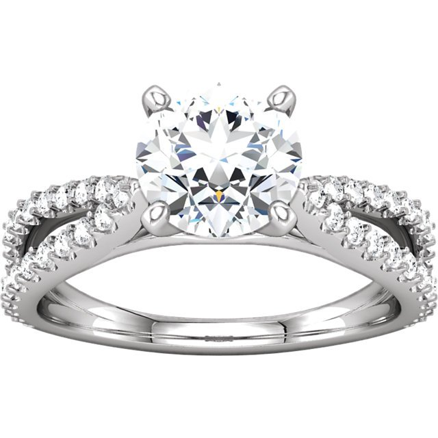Item # 127634PP View 4 - Platinum Engagement Ring