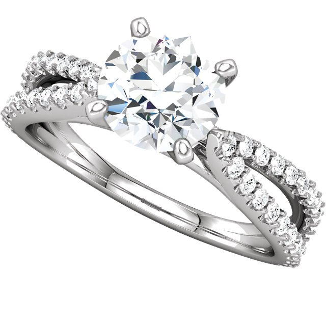Item # 127634PP View 5 - Platinum Engagement Ring