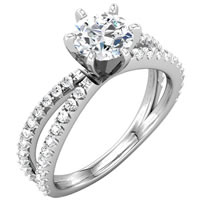 Item # 127635W - Diamond Engagement Ring