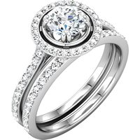 Item # 127636EBW - Engagement Ring and Matching Band