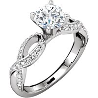 Item # 127641AW - Infinity Inspired Engagement Ring