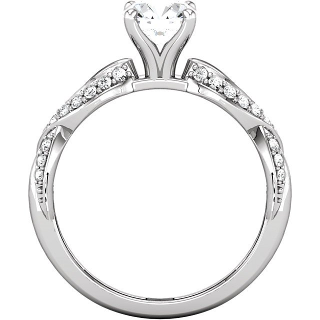 Item # 127641AW View 2 - Infinity Inspired Engagement Ring
