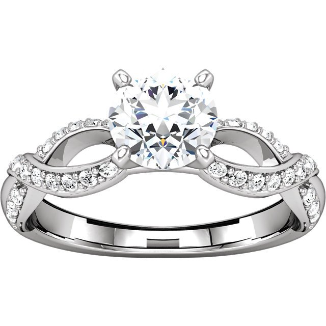 Item # 127641AW View 3 - Infinity Inspired Engagement Ring