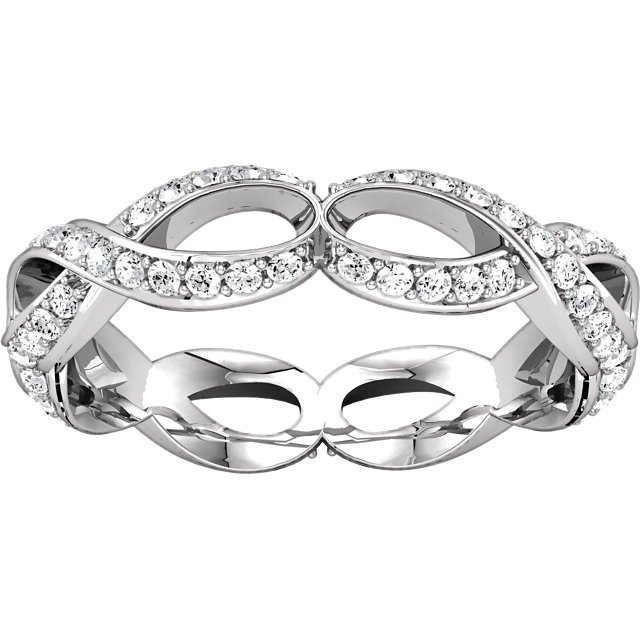 Item # 127641BWE View 3 - Infinity Inspired Eternity Band