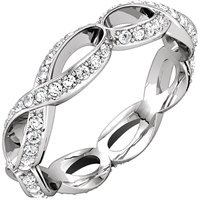 Item # 127641BW - Infinity Inspired Eternity Band