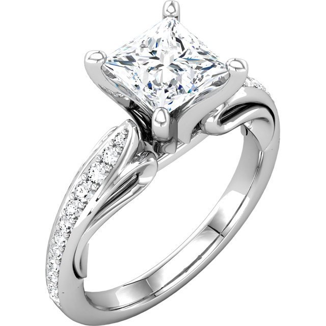 Platinum Princess Diamond Engagement Ring