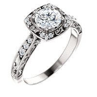 Item # 127659PP - Sculptural Engagement Ring