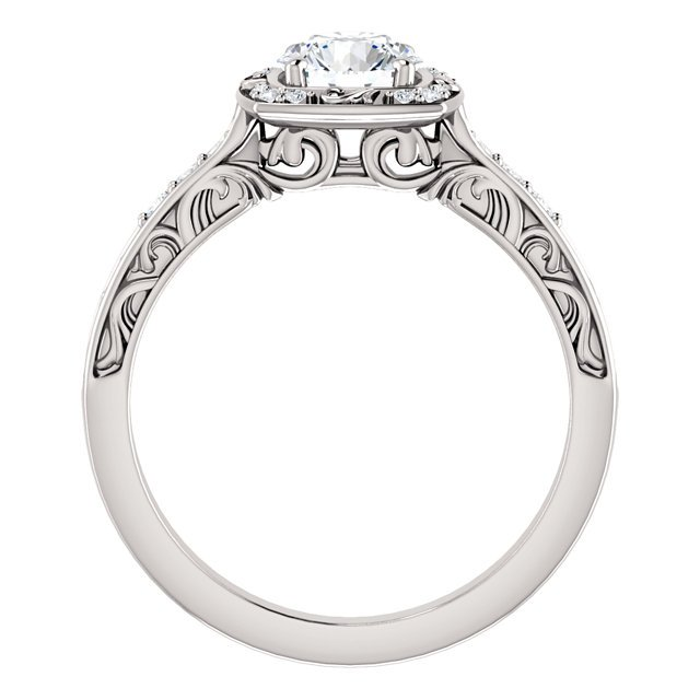 Item # 127659WE View 2 - Sculptural Engagement Ring