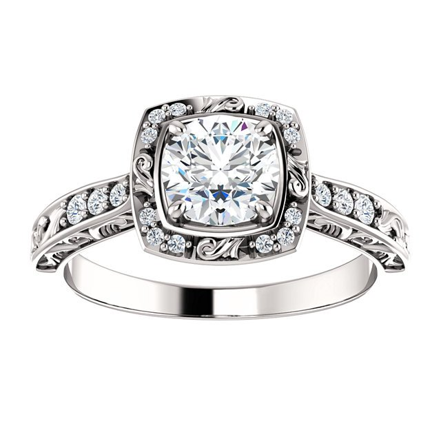 Item # 127659WE View 3 - Sculptural Engagement Ring