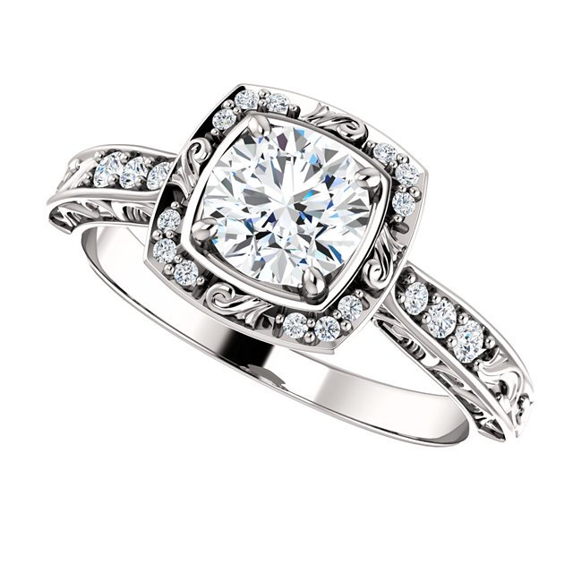 Item # 127659WE View 5 - Sculptural Engagement Ring