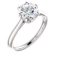 Item # 127682WE - 18K White Gold Solitaire Ring