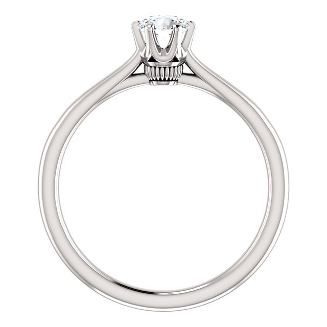 Item # 127682W - 14K White Gold Solitaire Engagement Ring View-2