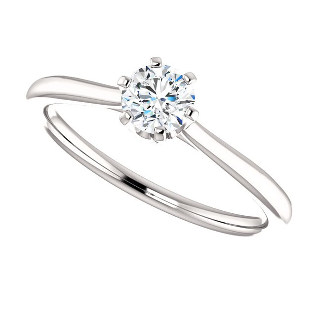 Item # 127682W - 14K White Gold Solitaire Engagement Ring View-5