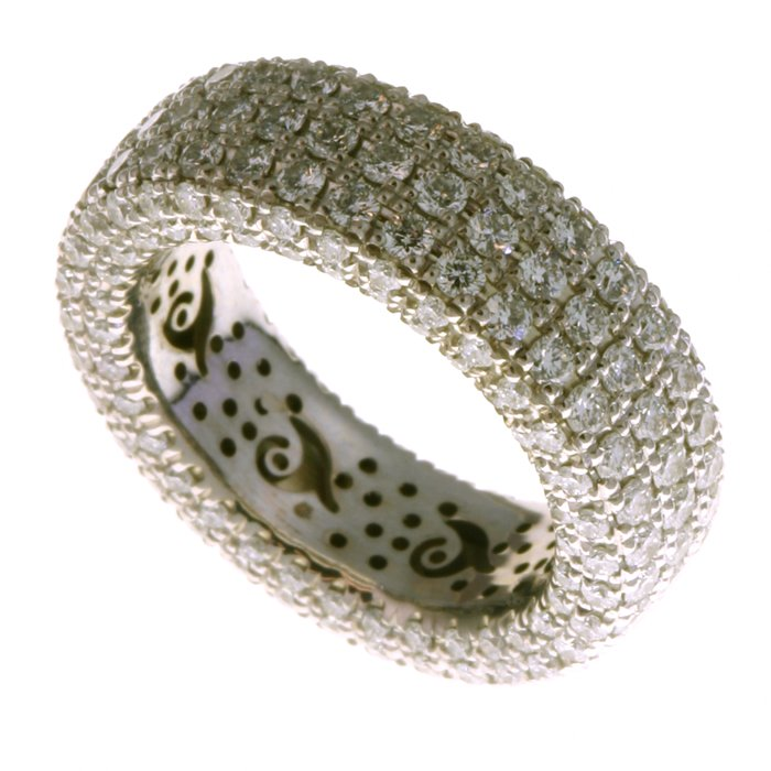 Palladium Pave Set Diamond Eternity Ring
