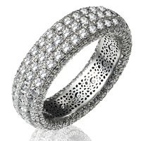 Diamond Eternity Ring  Pave Set 14K Gold