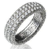 Item # 1374601PP - Diamond Eternity Ring Platinum Pave Set