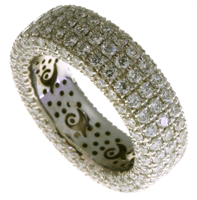 Item # 1374601WE View 3 - Diamond Eternity Ring 18K Gold Pave Set