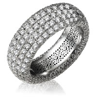 Item # 13746WE - 18K Pave Set Diamond Eternity Ring