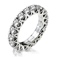 Item # 13796WE - 18K White Gold Diamond Eternity Ring