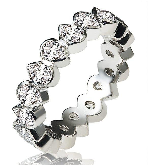 13809w 14k Pear Shape Diamonds Eternity Ring