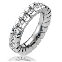 Item # 13837PD - Palladium Diamond Eternity Band