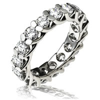 Item # 13842PD - Palladium Eternity Ring