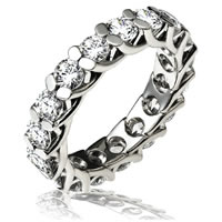 Item # 13842W - 14K White Gold Diamond Eternity Ring