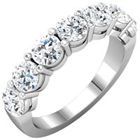 Diamond Anniversary Ring 18K White Gold