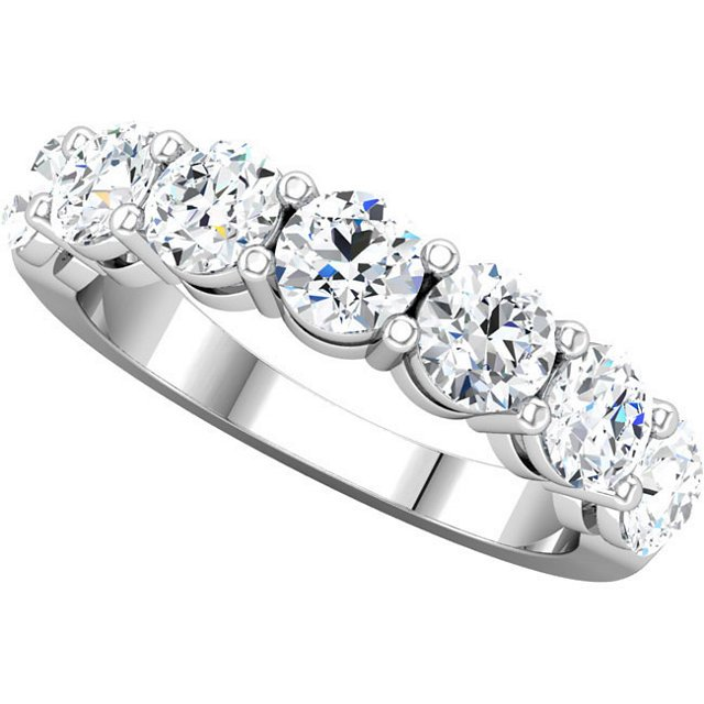 Item # 17862WE View 2 - Diamond Anniversary Ring 18K White Gold