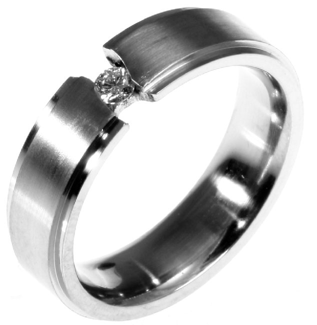 Item # 196289TI - Titanium Wedding Band View-1
