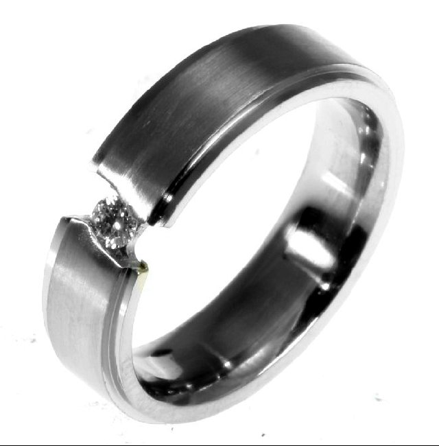 Item # 196289TI - Titanium Wedding Band View-3