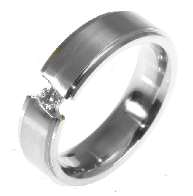 Item # 196289PD View 2 - Palladium Diamond Wedding Band