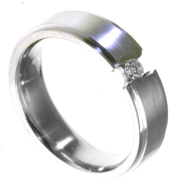 Item # 196289PD View 3 - Palladium Diamond Wedding Band