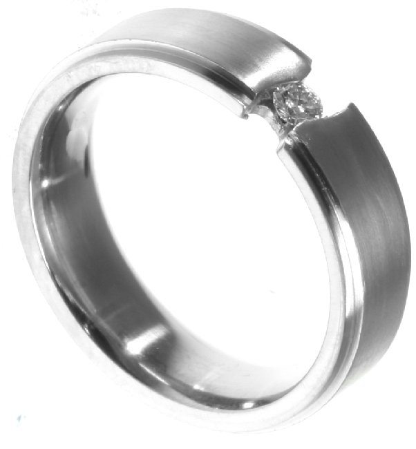 Item # 196289PD View 5 - Palladium Diamond Wedding Band